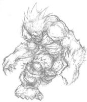 Street Fighter sketches by Jugwug