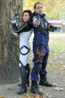 Miranda and a police from Racoon 3 by V-kony