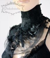 Black collar by Pinkabsinthe
