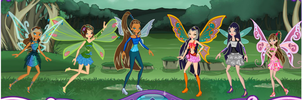 The Avatar girls in Winx style by Shippo3313