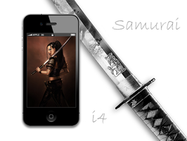 Samurai iPhone 4 Retina Wall by biggzyn80