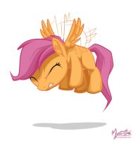 Scootaloo Flying by mysticalpha