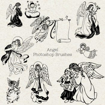 PS Brushes: Angels by HGGraphicDesigns