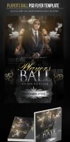Player's Ball Party Flyer Template by ImperialFlyers