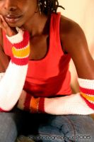Hand Crocheted Armwarmers by sheebaBaby