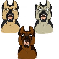 German Shepherd set 1 by GalacticZero
