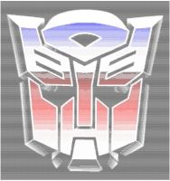 Autobot Logo Ascii Colourised by magigrapix