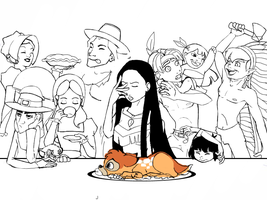 an almost happy thanksgiving by Scribbles02