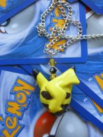 Sleeping Pikachu Necklace- For Sale by JenniferSlattery