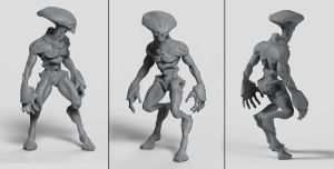alien sculpt 2 by Akiratang