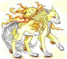 Fetta the Cheese Okami by WhiteK9