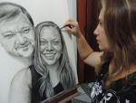 Charcoal on canvas by leidanogueira