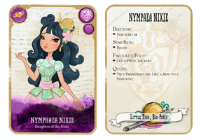 Ever After High Oc Card - Nymphaea Nixie by chunk07x