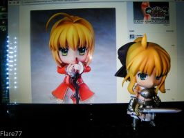 Saber Lily's reaction to Saber Nero by morph8