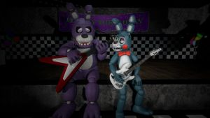 Bonnie and Toy Bonnie [You still have that?] by BetrayingtheMartyr