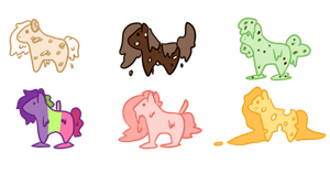 More Teeny Food Pony adopts - OPEN- by OfficerMittens