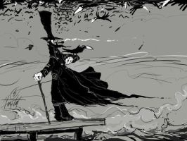 Captain Ahab and Crows2 by senelyesilot
