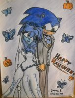Corpse Bride: Emily and Victor (Sonic and Amy) by ripjaws-girl21