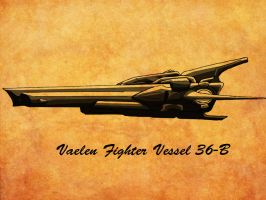 Vaelen Fighter Vessel Sketch by iamherecozidraw
