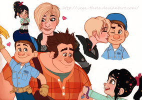 Wreck It Ralph Sketchdump by Vega-Three