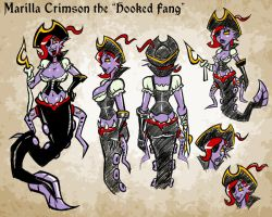 [Character Concept] Marilla Crimson by hooksnfangs
