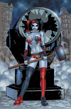 Harley Quinn colors by seanforney