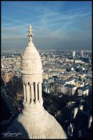 Paris from Sacre Coeur by lagattapiccola
