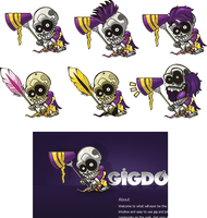 Gig the skeleton... Character. by pixelcriminal