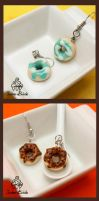 Vanilla Donut Earrings by TwineBirds