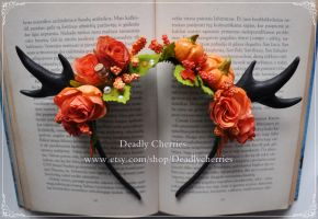 October antlers head band by CountessAudronasha