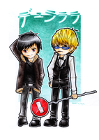 DRRR: izaya and shizuo by skyna