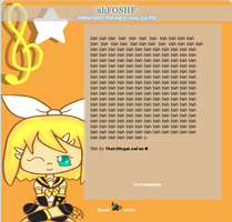 Kagamine Rin Journal Skin by That1MegaLeaFan