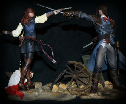 AC Unity: Arno and Elise (Ubicollectibles) by AssassinCheese
