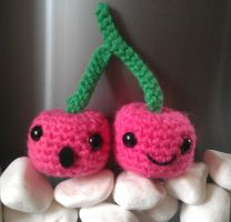 Kawaii Amigurumi cherries by CraftyGeeks