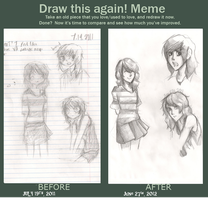 Before and After: FUNFUN Draw This Again Meme!! by SpinachPizza