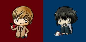 SD buttons - Death Note by zelas