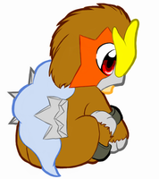 Baby Entei by OekakiWolf