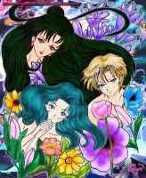 sailors exteriores Outer Senshi by bloomgalery