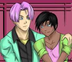 Trunks and Trinity by Kira09kj