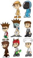 All the wee guys by Bigdowser