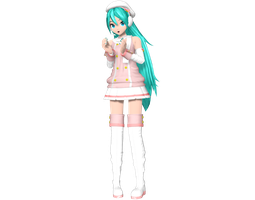 Project Diva Arcade Future Tone Powder Miku by Luke-Flame