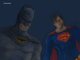 Earth One Batman And Superman by Michael-McDonnell