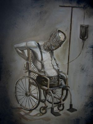 Wheelchair Patient by Mavros-Thanatos