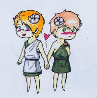 APH - usuk chibis by aide-memoire