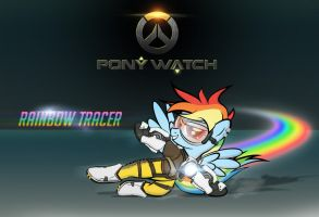Ponywatch: Rainbow Tracer by dan232323