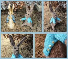 Vintage plushie, Peter Rabbit by KnitLizzy
