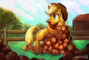MLP: Applejack by The-Keyblade-Pony