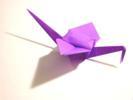 Paper Crane by green-haiku