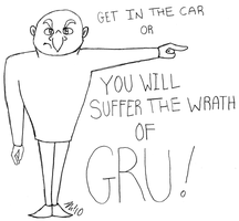 Gru Says Get in the Car by melissaduck