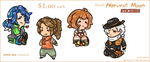 Mixed HarvestMoon STICKERS by norree